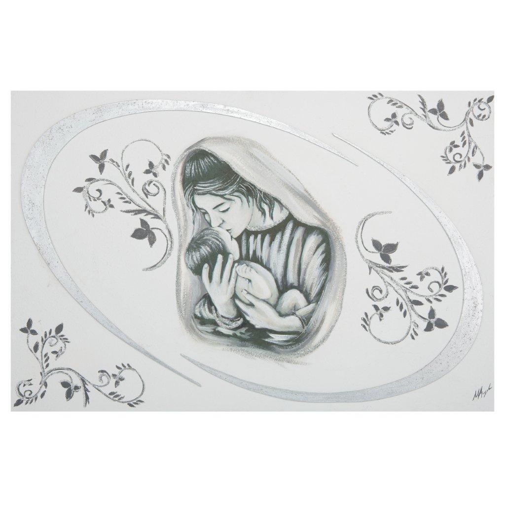 Quadro su tela camera da letto Maternità Argento