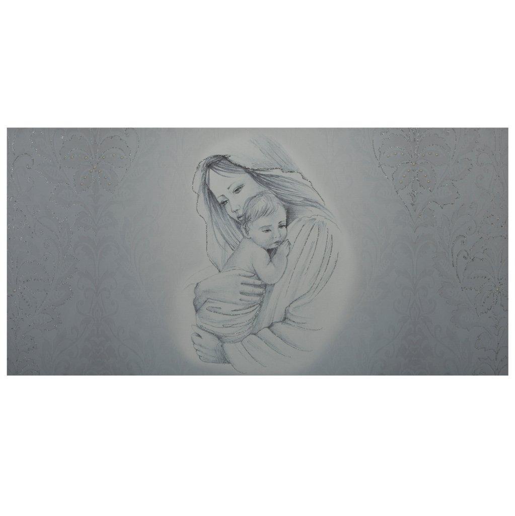 Capezzale su tela Maternità Damascata Argento